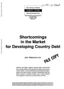 Shortcomings in the Market for Developing Country Debt