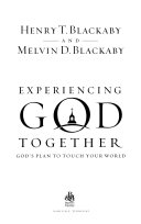 Experiencing God Together Book