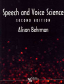 Cover of Speech and Voice Science