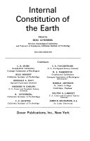 Physics of the Earth: Internal constitution of the earth
