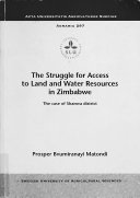 The Struggle for Access to Land and Water Resources in Zimbabwe