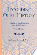 Read Online Recording Oral History For Free