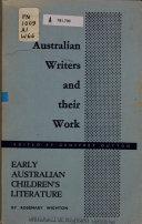 Early Australian Children s Literature