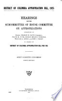 District Of Columbia Appropriation Bill 1925