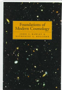 FOUNDATIONS OF MODERN COSMOLOGY. Edition en anglais