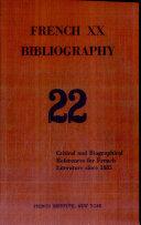 Pdf French Twentieth Bibliography Telecharger