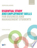 Essential Study And Employment Skills For Business And Management Students Book