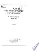 An Analysis Of Cases Closed As Rejected And Not Accepted In Fiscal Year Ended June 30 1944