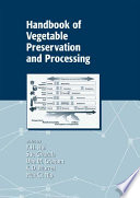 Handbook of Vegetable Preservation and Processing Book