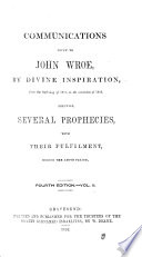 An Abridgment Of J W S Life And Travels Also Revelations On The Scriptures And Various Communications Given To Him By Divine Inspiration Fourth Edition