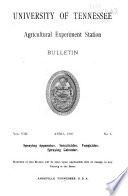 Bulletin of the Agricultural Experiment Station of the University of Tennessee