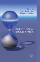 Pdf Beckett's Proust/Deleuze's Proust Telecharger