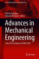 Advances in Mechanical Engineering Book