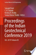 Proceedings of the Indian Geotechnical Conference 2019 Book