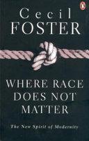 Where Race Does Not Matter Book