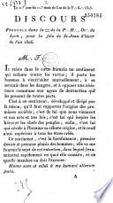 Discours Prononc Dans La Loge De La P H Or De Lyon Pour La F Te De St Jean D Hiver De L An 1806