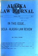 Alaska Law Journal