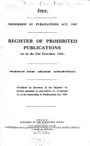 List of the Books Prohibited and the Register of Prohibited Periodical Publications