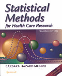 Cover of Statistical Methods for Health Care Research