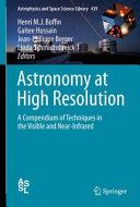 Astronomy At High Angular Resolution