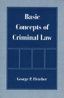 Basic Concepts of Criminal Law Pdf/ePub eBook