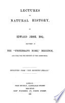 Lectures on Natural History
