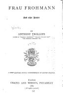Frau Frohmann  and Other Stories