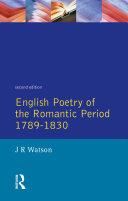 English Poetry of the Romantic Period 1789-1830 [Pdf/ePub] eBook