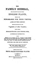 The family Herbal, or an account of all those English Plants ...