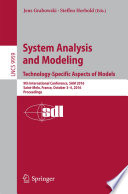System Analysis and Modeling. Technology-Specific Aspects of Models