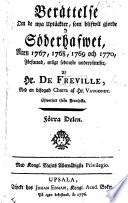 Berättelse om de nya uptäckter, som blifwit gjorde i Söderhafwet, åren 1767-1770, med en ... Charta af Hr. Vaugondy. Öfwersatt ifrån Fransyska