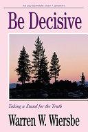 Be Decisive Book