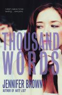 Thousand Words Pdf/ePub eBook