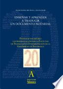 Enseñar y aprender a traducir un documento notarial