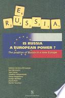 Is Russia a European Power?