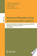 Advanced Manufacturing and Sustainable Logistics Book PDF