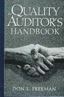 The Quality Auditor s Handbook