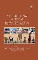 Considering Animals Book