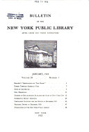 Bulletin of the New York Public Library