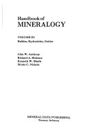 Handbook of Mineralogy  Halides  hydroxides  oxides Book