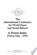 The International Conference for World Peace and Social Reform & Human Rights Prayer Day, 1976