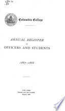 Annual Register of Officers and Students Book