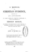 A Manual of Christian Evidence
