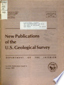 New Publications of the Geological Survey