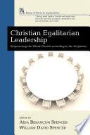 Christian Egalitarian Leadership Book