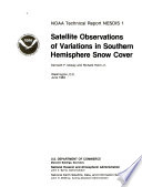 Satellite Observations of Variations in Southern Hemisphere Snow Cover