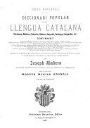 Diccionari popular de la llengua catalana