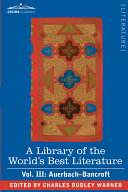 Pdf A Library of the World's Best Literature - Ancient and Modern - Vol. III (Forty-Five Volumes; Auerbach - Bancroft Telecharger