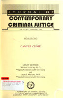 Journal of Contemporary Criminal Justice Book