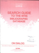 Search Guide To The Ntis Bibliographic Database On Dialog